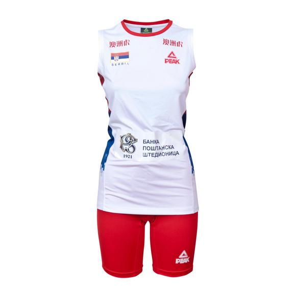 Odbojkaški dres ženski beli 2018 Srbija