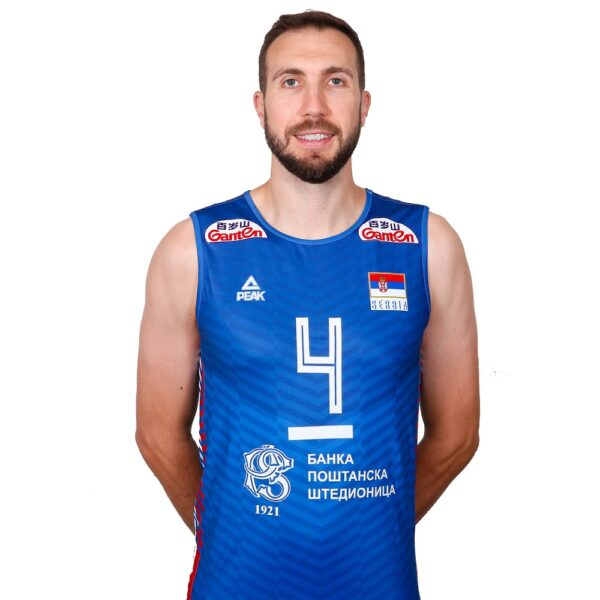 Odbojkaški dres muški plavi 2021 Srbija BROJ+PREZIME